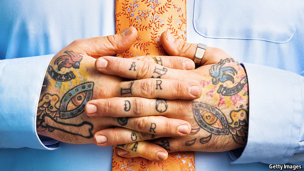 Ink blots the economist for Tattoos in the workplace