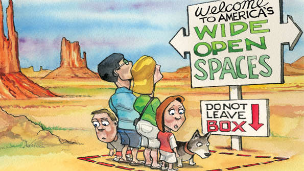 Economist April 25th 2015: wide-open spaces highly regulated now