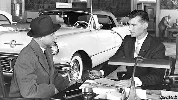 Death Of A Car Salesman The Economist