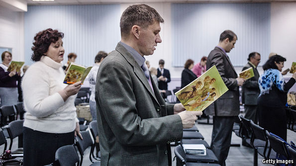 Russia bans the Jehovah's Witnesses, just as the Soviet Union did