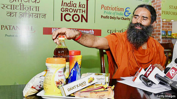 India's Patanjali takes on Western consumer-goods firms