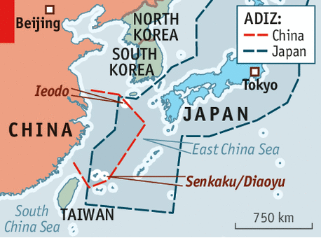 US Warns China Against An Exclusion Zone - Japan exclusion zone map