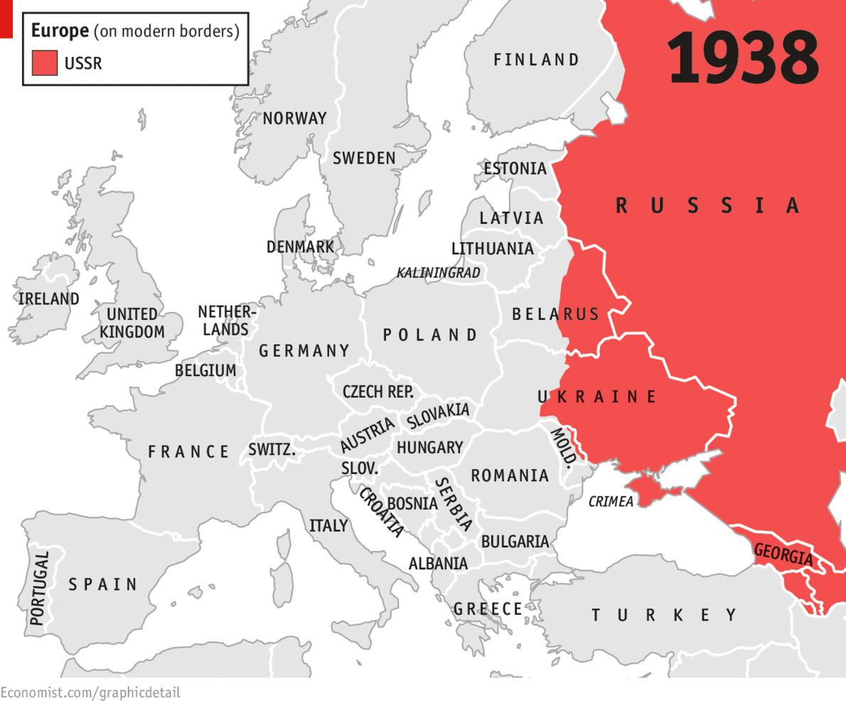 以下五幅地图展示了俄罗斯和邻国之间磕磕绊绊的历史