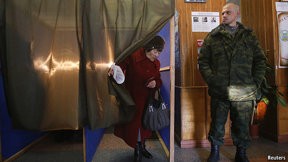 Voting in the separatist Donbas republics was marred by irregularities