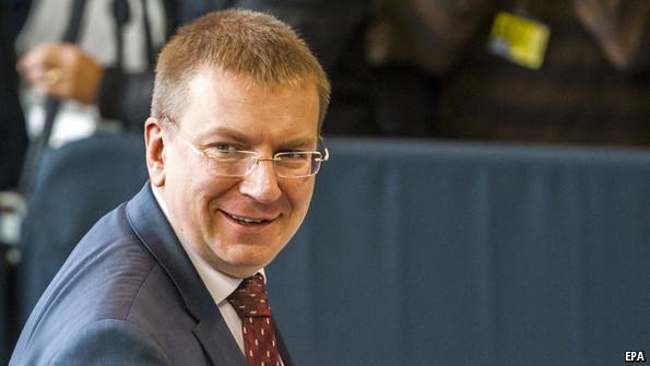 Edgar Rinkevics, Latvian foreign minister