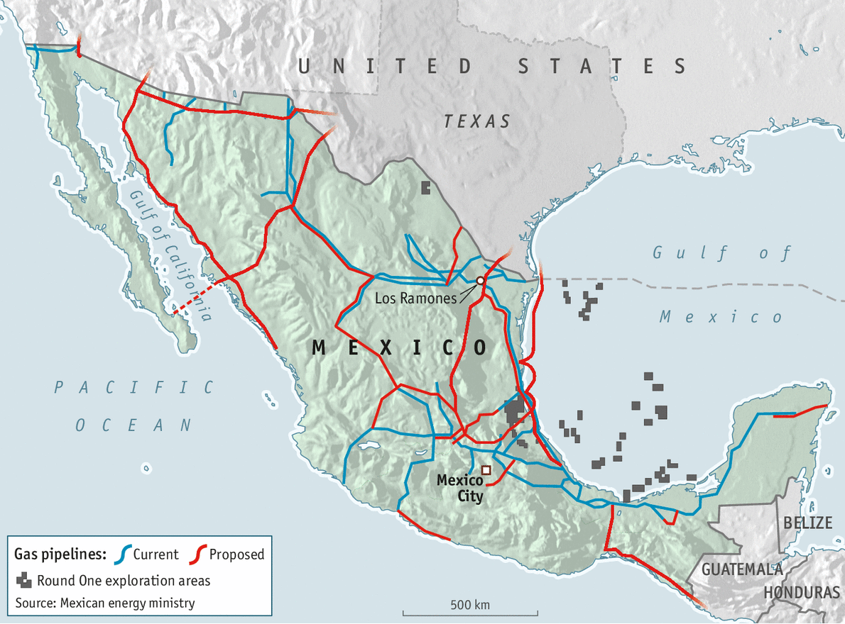 Business The Economist Map Of Existing Oil Pipelines In Usa