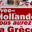 A winner in France, alarm in Greece
