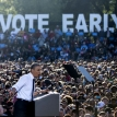 A flat rally for Mr Obama and his friends