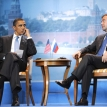 Barack, Dmitry—and (offstage) Vladimir