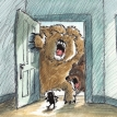Bears at the door