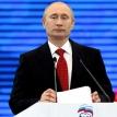 Vladimir Putin steps out