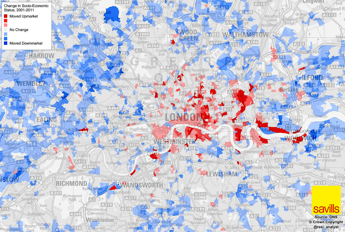 Gentrification Map Savills