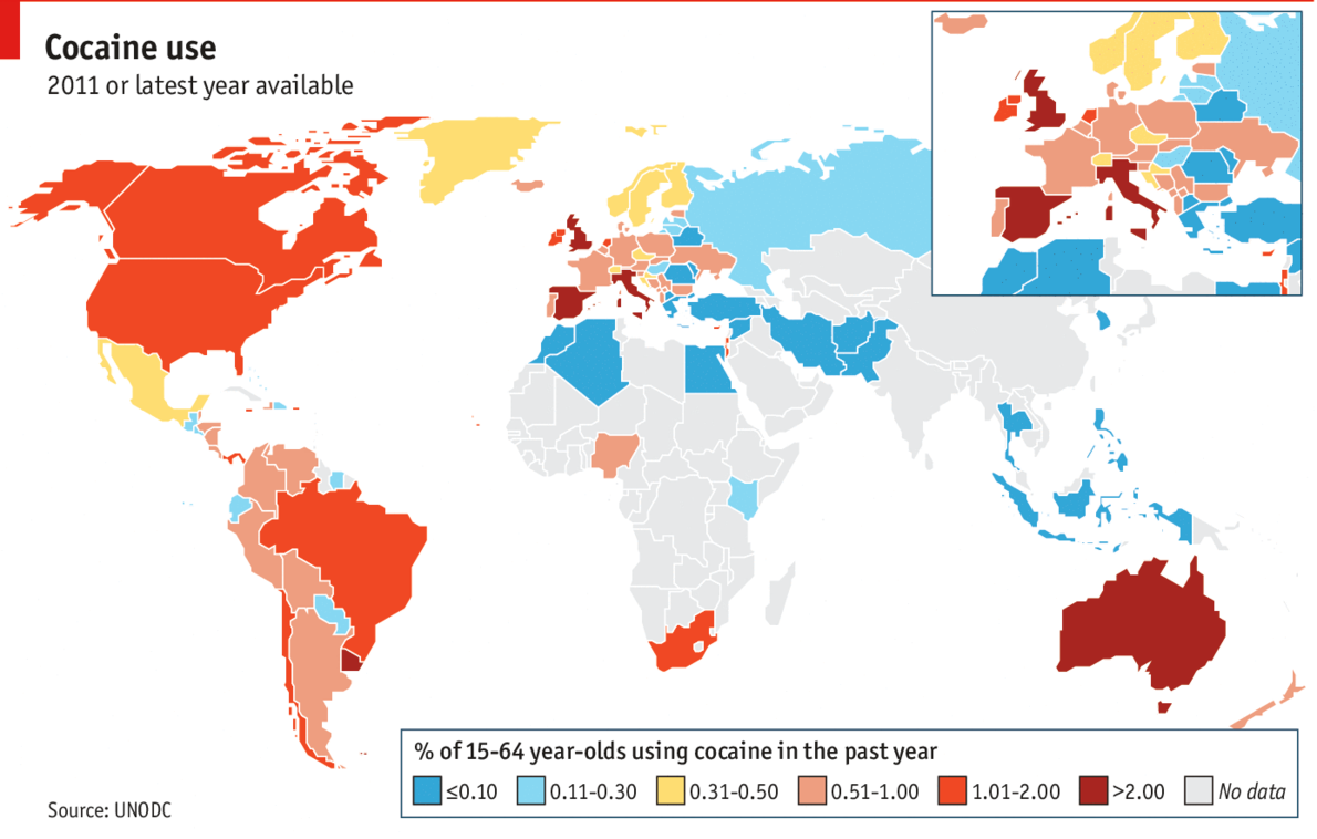 drug addiction by country