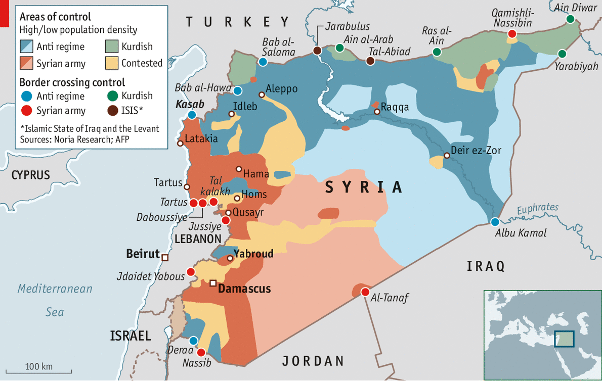 Syria's borders: State of play | The Economist