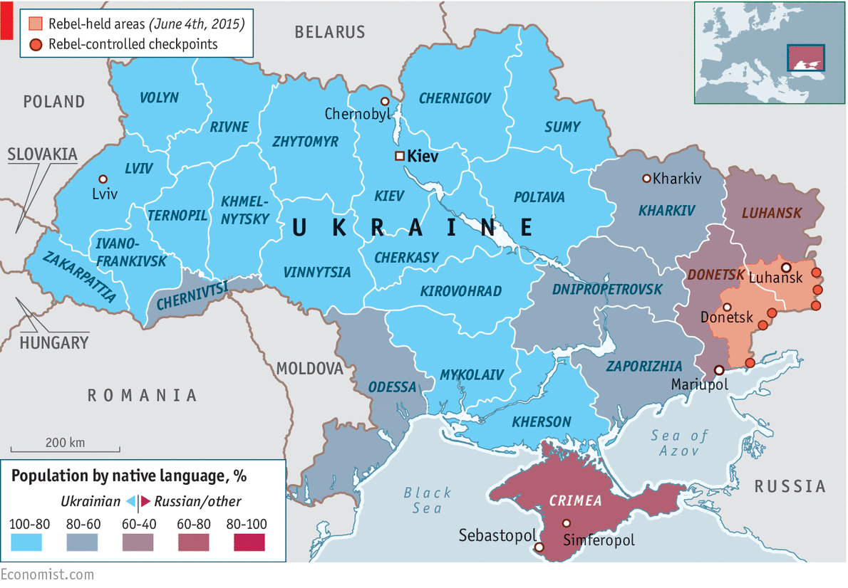 Ukraine in graphics: Crisis in Ukraine | The Economist