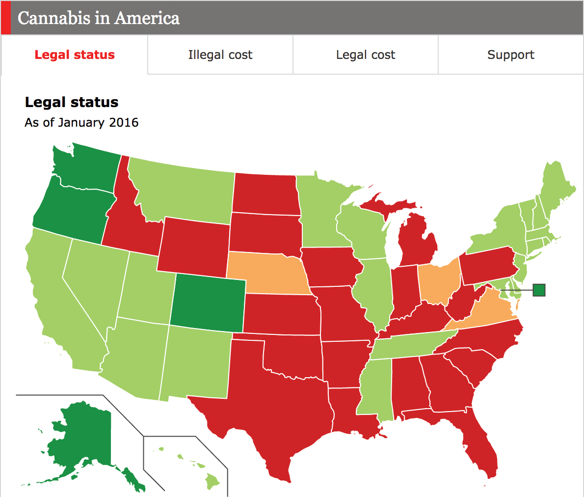 Daily Chart Marijuana And The Disjointed States Of America The Economist