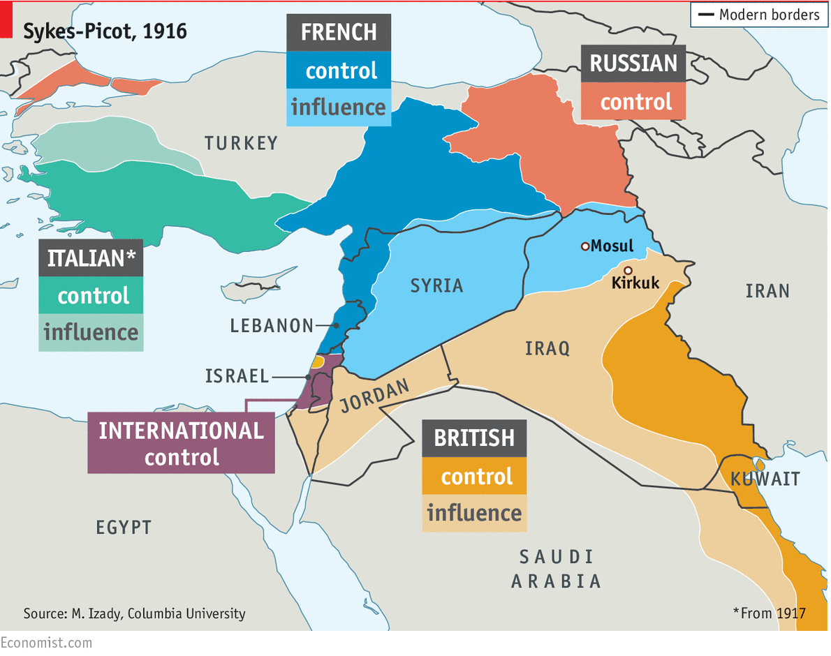 Daily Chart Sykes Picot 100 Years On The Economist