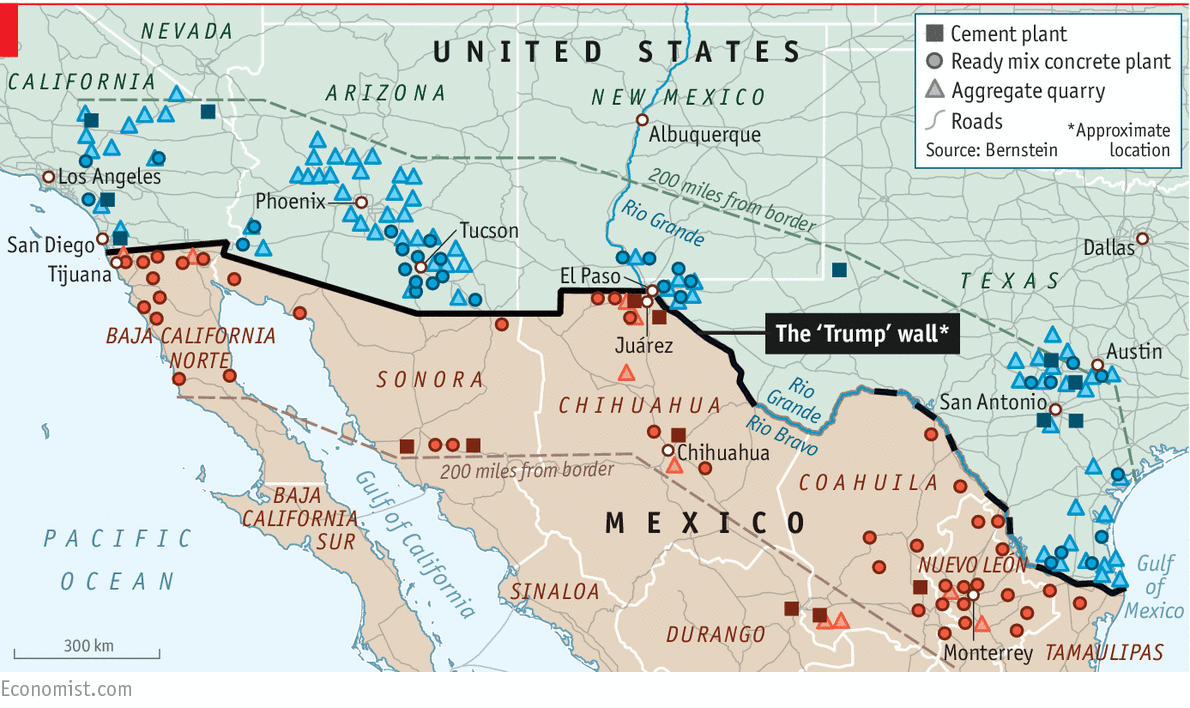 Daily Chart The Economics Of Donald Trumps Wall