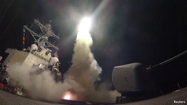 Image result for trump missile strike assad