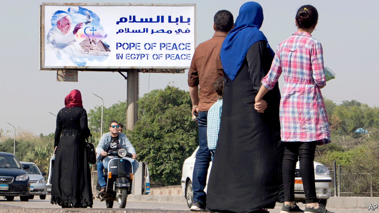 The pope visits Egypt