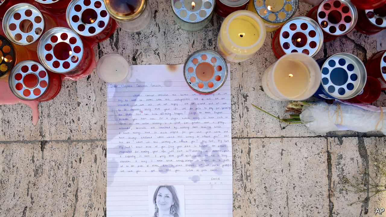 The death of a crusading journalist rocks Malta
