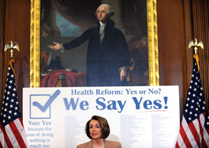Nacy Pelosi, health care reform