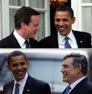Barack Obama, David Cameron, Gordon Brown, special relationship