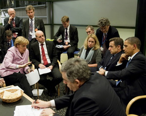 Barack Obama, Europe, Merkel, Sarkozy, Brown