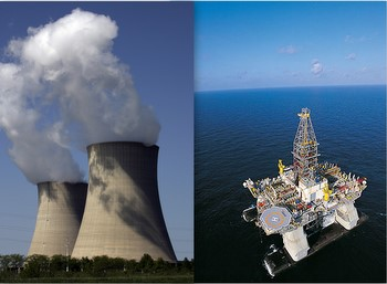 nuclear power, offshore oil drilling