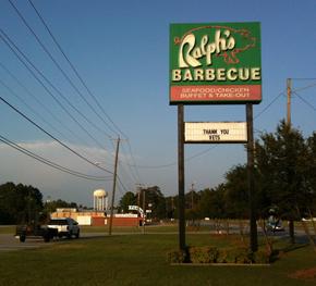 Ralph's roadside sign