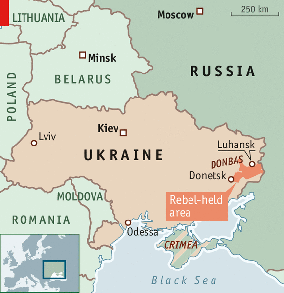 Ukraine and Russia Battering on – Map Ukraine Fighting