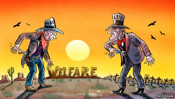 economist.com - American exceptionalism: Warfare helps explain why American welfare is different
