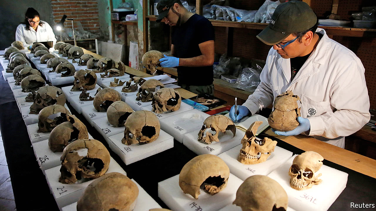 Archaeologists discover a gruesome tower of skulls in Mexico City