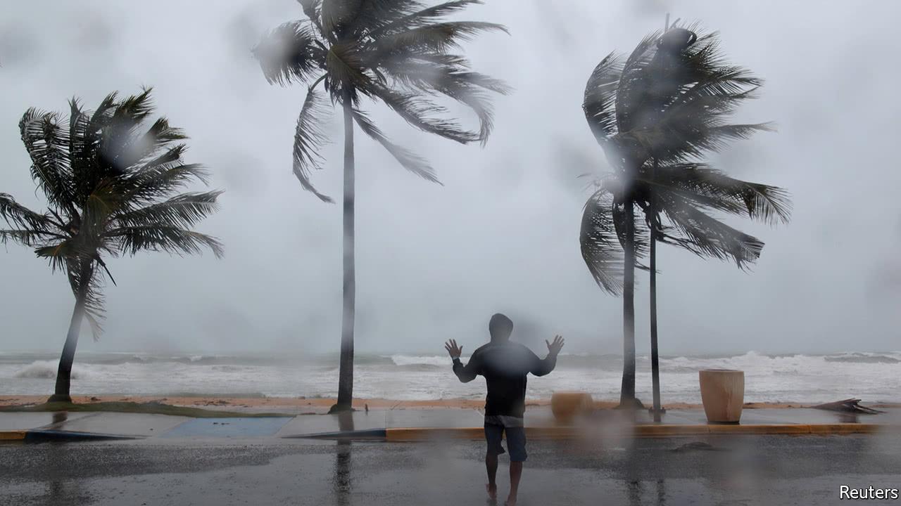 Hurricane Irma strikes the Caribbean