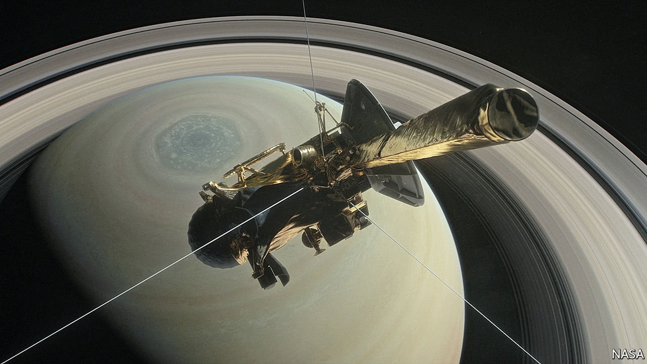 After exploring Saturn, Cassini faces a fiery end