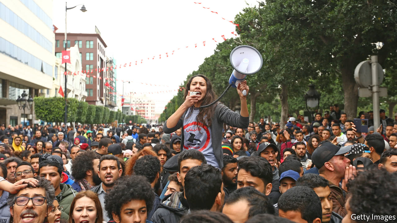 Anger over the Tunisian government's belt-tightening spills over into unrest