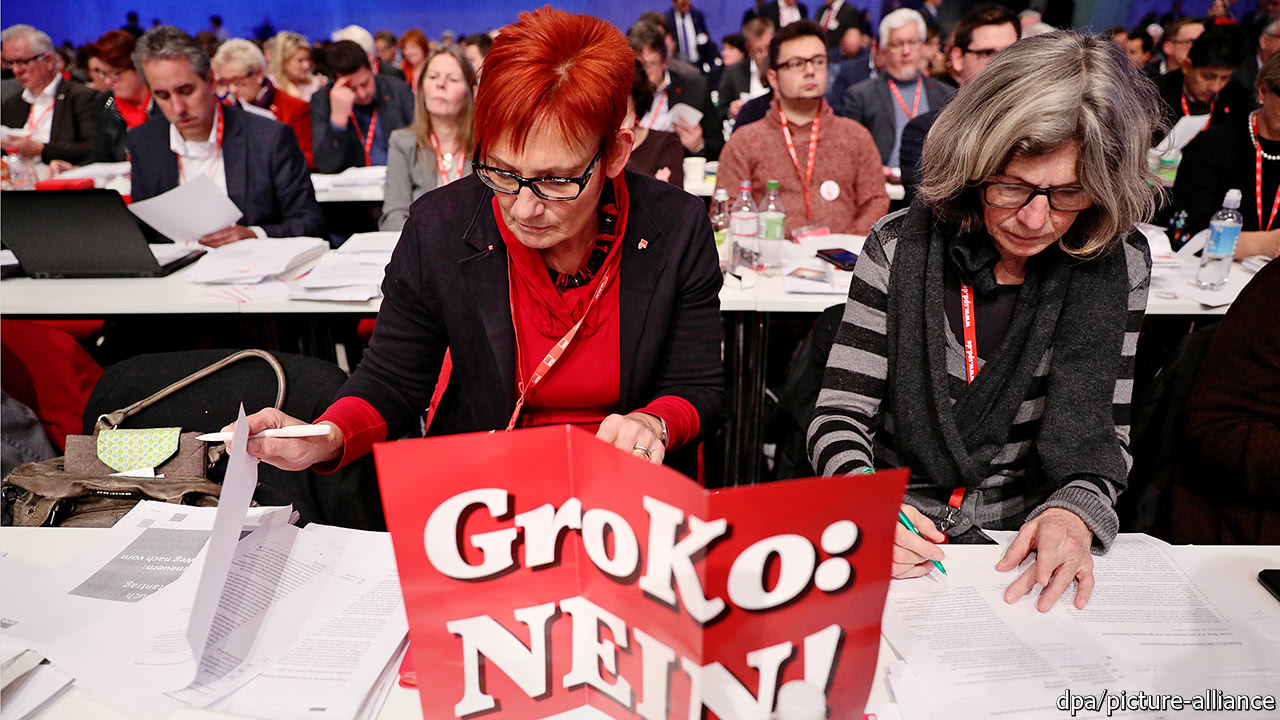 The SPD's rank and file could block a new German grand coalition
