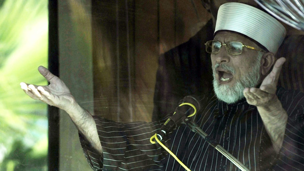 Qadri behind glass