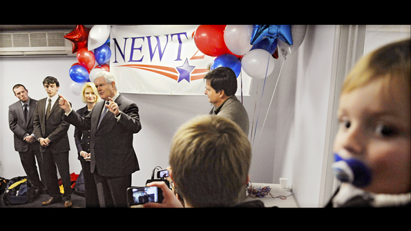 Gringrich opens campaign office
