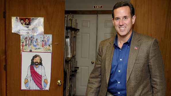 Rick Santorum at Salmon Falls Church for Faith, Family and Freedom
