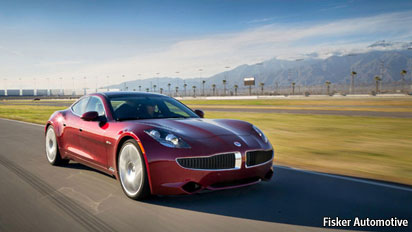 The First Fisker Karma A Luxury Four Seater High Performance Electric Car Will Be Delivered To Its Customer One Leonardo Di Caprio On July 21st