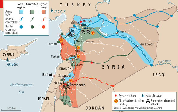 Whos Winning Syrias Civil War - Where is syria