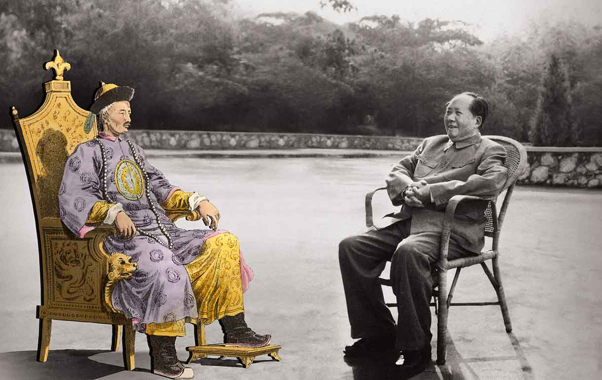 Emperor and Mao sitting together