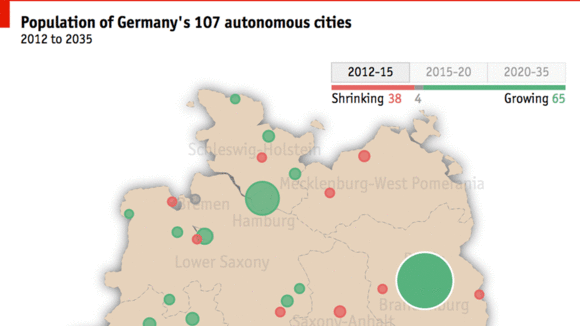 How to shrink a city urban policy stdte on the slide an interactive map of germanys shrinking cities gumiabroncs Gallery