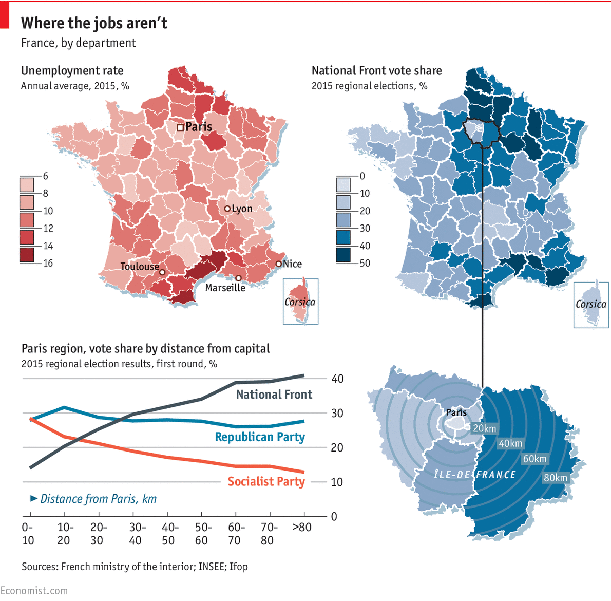 Where Frances National Front Is On The Rise Daily Chart - Where is france on the map