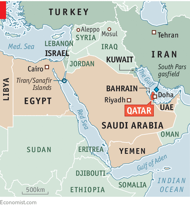 Saudi Arabia Cuts Off Qatar A Family Feud - Map of qatar and egypt