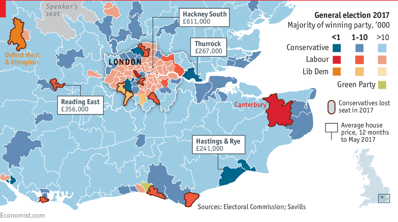 Thumbnail for Pricey London property may push Labour voters into Conservative constituencies