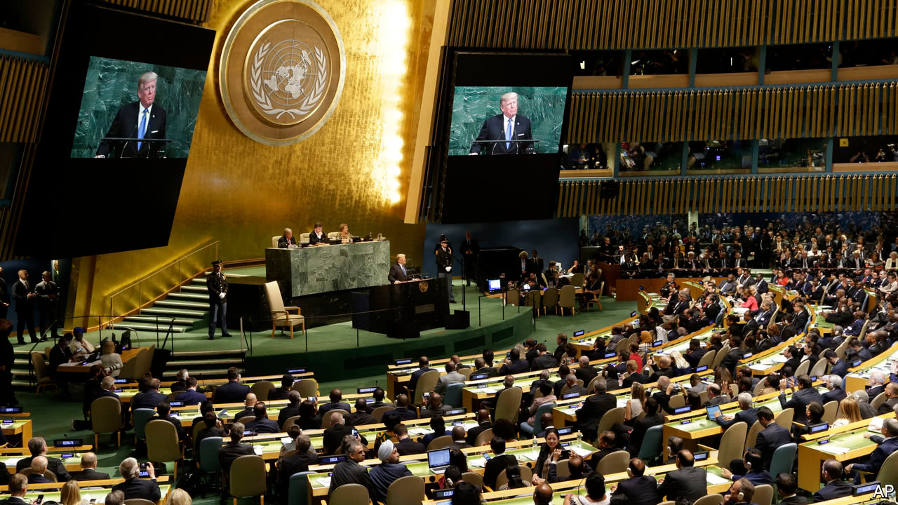 Online Mba No Gmat >> An America First president addresses the United Nations - Trump warns Rocket Man