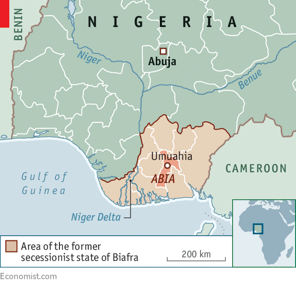 Biafran separatists are gaining support 50 years after the civil