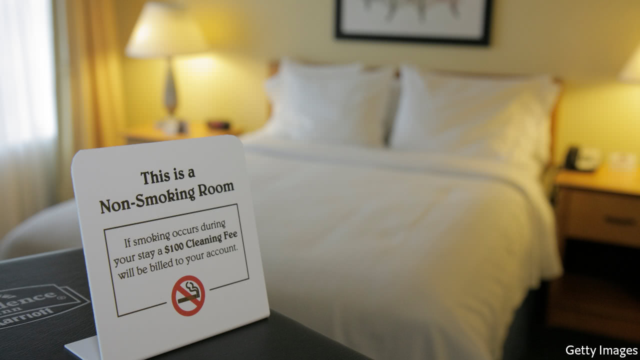 Smoking rooms are disappearing from hotels - Stubbed out